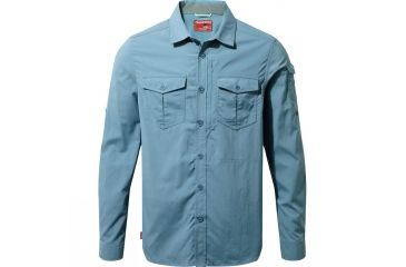 4775e68e Crag Hoppers Nosilife Adventure Long Sleeve Shirt - Men's-Smoke Blue-Medium