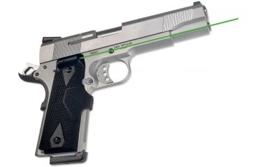 Crimson Trace 1911 Government/Commander, Lasergrips, Green laser, Black LG-401G