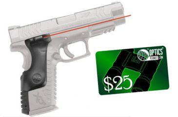 2-Crimson Trace LaserGrip Polymer Laser Sight Grip for Springfield XD(M) Full-Frame Handguns