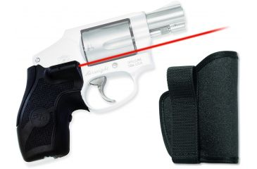 Crimson Trace Lasergrip Sight, Black - Smith & Wesson J-Frame Round Butt w/ Holster