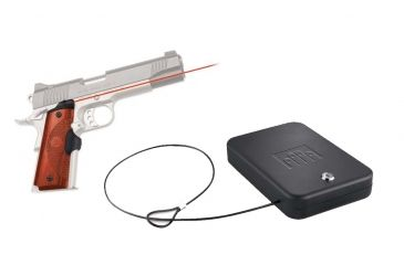 Crimson Trace Master Series Laser Grip, Cocobolo - for 1911 Full Size Government/Commander & FREE Nanovault NV 200 Hand Gun Safe