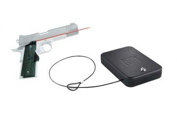 Crimson Trace Master Series LaserGrip Red Laser Grip w/ Green G10 Handles for 1911 Full-Size Handguns & FREE Nanovault NV 200 Hand Gun Safe
