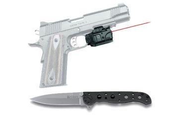 Crimson Trace Railmaster Pro Red Lasergrip w/ CRKT Knife CMR-205 CRKT