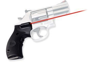 Crimson Trace Rubber Lasergrip - Smith & Wesson K/L Frame, Round Butt, Black LG306