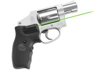 Crimson Trace S&W J-Frame Round butt- Lasergrips, Green laser, Black LG-305G