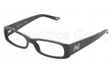 D&G DD 1163 Eyeglasses Styles Black Frame w/Non-Rx 50 mm Diameter Lenses, 501-5015, DandG DD 1163 Eyeglasses Styles Black Frame w/Non-Rx 50 mm Diameter Lenses