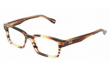 D&G DD 1176 Eyeglasses Styles Orange Havana Frame w/Non-Rx 50 mm Diameter Lenses, 1572-5017