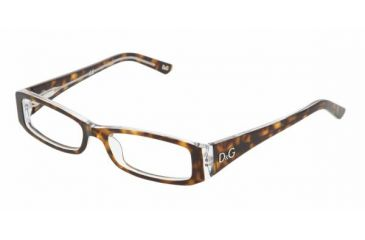 D&G DD 1179 Eyeglasses Styles - Havana On Transparent Frame w/Non-Rx 49 mm Diameter Lenses, 556-4916