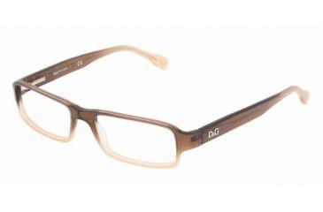 D&G DD 1188 Eyeglasses, Brown Gradient Frame w/Non Rx 51 mm Diameter Lenses, 1675 5116