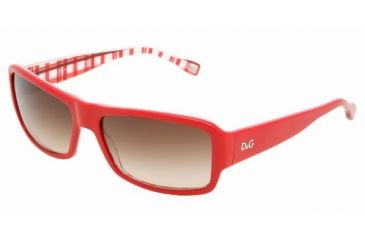 D&G DD 3060 Sunglasses Styles - Red On Check Brown Gradient Frame, 177413-5916