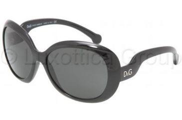 D&G DD8063 Single Vision Prescription Sunglasses DD8063-501-87-6015 - Lens Diameter: 60 mm, Frame Color: Black