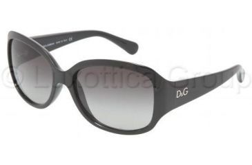 D&G DD8065 Single Vision Prescription Sunglasses DD8065-501-8G-5916 - Frame Color: Black, Lens Diameter: 59 mm