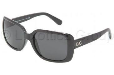 D&G DD8067 Single Vision Prescription Sunglasses DD8067-501-87-5618 - Lens Diameter: 56 mm, Frame Color: Black