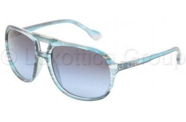 D&G DD8076 Single Vision Prescription Sunglasses DD8076-16928F-5817 - Lens Diameter: 58 mm, Frame Color: Blue Striped Transp