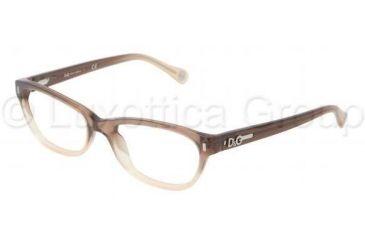 D&G DD1205 Progressive Prescription Eyeglasses 1675-5017 - Brown Gradient Frame
