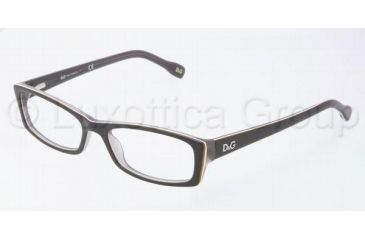 D&G DD1212 Single Vision Prescription Eyewear 1871-5016 - Black/Yel/White/Gray