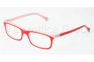 D&G DD1214 Progressive Prescription Eyeglasses 1764-4917 - Red On Pink