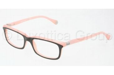 D&G DD1214 Eyeglass Frames 1878-4917 - Black On Pink