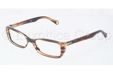 D&G DD1219 Bifocal Prescription Eyeglasses 1572-5115 - Striped Havana
