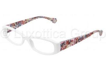 D&G DD1228 Bifocal Prescription Eyeglasses 1978-5016 - White Frame