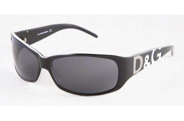 D&G DD3009-612-87-6414 Sunglasses with Lined Bifocal Rx Prescription Lenses Tortse With Blue Stripe Frame / 64 mm Lenses