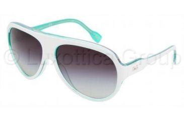 D&G DD3059 Sunglasses 17708G-6114 - White On Green Gray Gradient