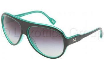 D&G DD3059 Single Vision Prescription Sunglasses DD3059-17738G-6114 - Lens Diameter: 61 mm, Frame Color: Black On Green