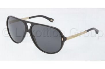 D&G DD3065 Bifocal Prescription Sunglasses DD3065-501-87-6012 - Frame Color: Black, Lens Diameter: 60 mm
