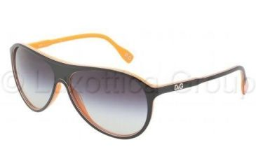 D&G DD3075 Single Vision Prescription Sunglasses DD3075-19468G-6113 - Lens Diameter: 61 mm, Frame Color: Top Black Orange