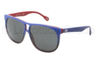 D&G DD3076 Single Vision Prescription Sunglasses DD3076-196987-5911 - Lens Diameter 59 mm, Frame Color Blue Gradient on Red