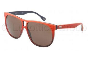 D&G DD3076 Single Vision Prescription Sunglasses DD3076-197073-5911 - Lens Diameter 59 mm, Frame Color Orange Gradient on Blue