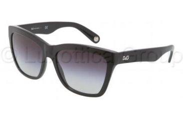 D&G DD3080 Sunglasses 501/8G-5617 - Black Frame, Gray Gradient Lenses