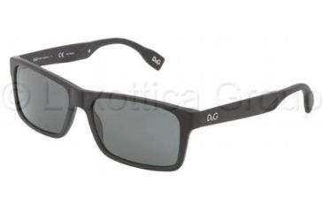 D&G DD3082 Sunglasses 255781-5716 - Matte Black Frame, Gray Lenses