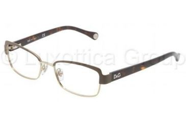 D&G DD5102 Single Vision Prescription Eyeglasses 1101-4916 - Black / Silver Frame