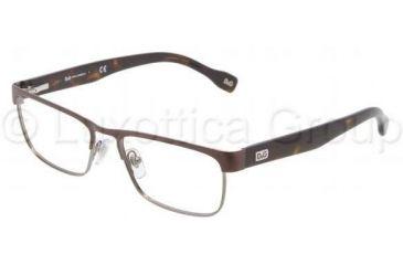 D&G DD5103 Progressive Prescription Eyeglasses 152-5216 - Brown Frame
