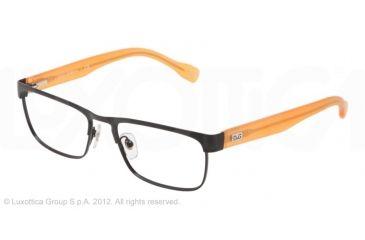 D&G DD5103 Progressive Prescription Eyeglasses 194-52 - Matte Black/Black Frame