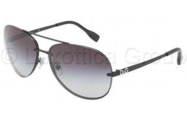 D&G DD6086 Sunglasses 11068G-6414 - Matte Black Frame, Gray Gradient Lenses