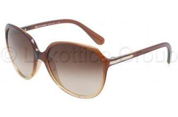 D&G DD8086 Single Vision Prescription Sunglasses DD8086-178113-5916 - Lens Diameter: 59 mm, Frame Color: Brown Gradient