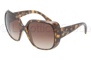 D&G DD8087 Single Vision Prescription Sunglasses DD8087-502-13-5718 - Lens Diameter 57 mm, Frame Color Havana