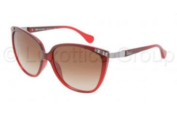 D&G DD8096 Sunglasses 253913-5814 - Brown Gradient Frame