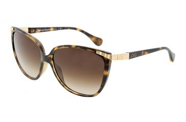 D&G DD8096 Sunglasses 502/13-5814 - Havana Frame, Brown Gradient Lenses