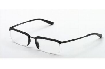 D&G DD5016-104-5018 Eyeglasses with Lined Bifocal Rx Prescription Lenses Silver Wtih White Rim Frame / 50 mm Transparent Lenses / 130 mm Temple Length