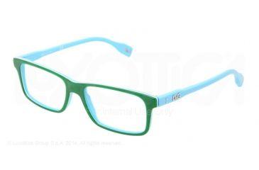 D&G Vibrant colours DD1244 Eyeglass Frames 2611-53 - Green On Azure Frame