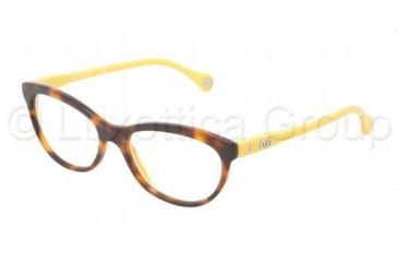D&G VIBRANT COLOURS DD1245 Single Vision Prescription Eyeglasses 2606-5316 - Dark Steel Frame