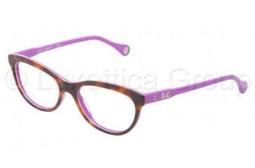 D&G VIBRANT COLOURS DD1245 Single Vision Prescription Eyeglasses 2608-5116 - Havana On Violet Frame