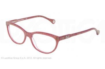 D&G VIBRANT COLOURS DD1245 Prescription Eyeglasses 2739-51 - Glitter Bordeaux Frame