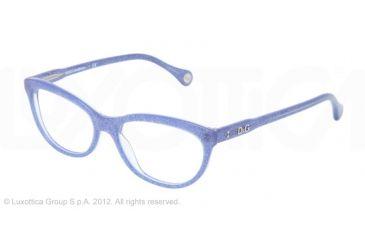 D&G VIBRANT COLOURS DD1245 Prescription Eyeglasses 2741-51 - Glitter Blue Frame