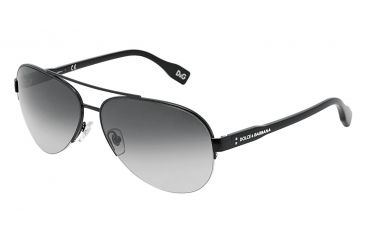 D&G Vibrant colours DD6092 Sunglasses 064/8G-6114 - Black Frame, Gray Gradient Lenses