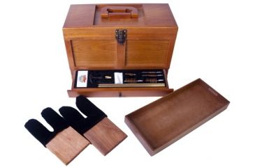 DAC Technologies Universal Gun Cleaning Kit with Wooden Toolbox TBX736-1