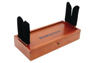 Dac Technologies Winchester Real Wood Gun Cleaning Station With 17 Piece Gun Cleaning Kit